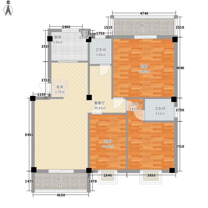 长晖中山豪庭11.16㎡户型3室2厅3卫1厨