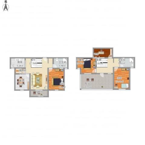 南湖家园4室2厅2卫1厨194.00㎡户型图