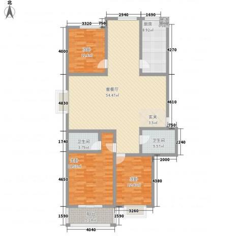 迎西城・建安佳园3室1厅2卫1厨171.00㎡户型图