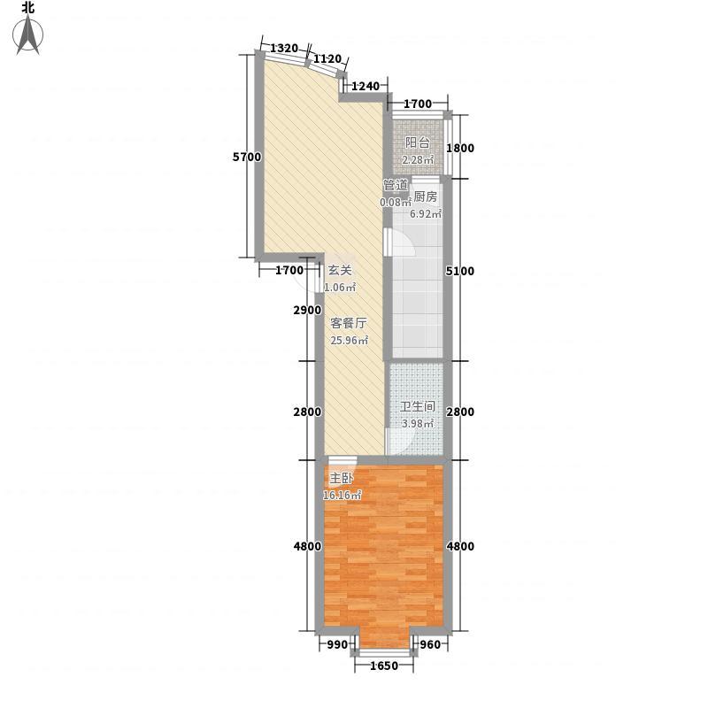 新新公寓72.00㎡新新公寓户型图一室一厅一卫1室1厅1卫户型1室1厅1卫