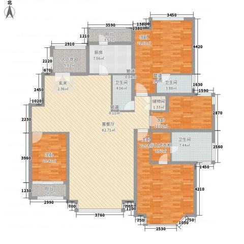 曼哈顿国际庄园4室1厅3卫1厨235.00㎡户型图
