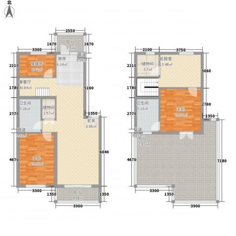 五一路晋商银行宿舍2室1厅2卫0厨209.00㎡户型图