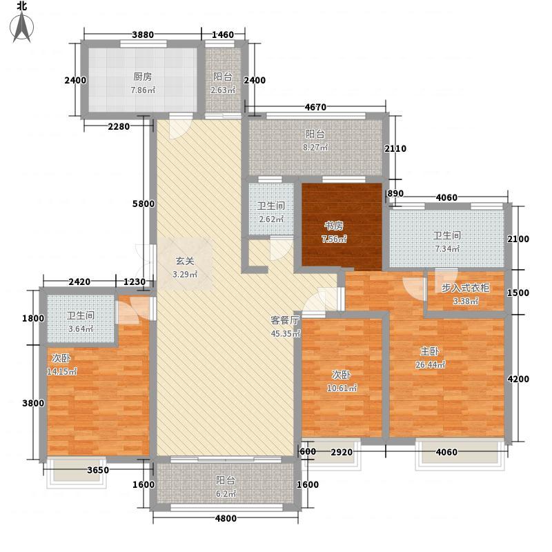 万达华府186.80㎡万达华府9#楼A1-2四室两厅三卫4室2厅3卫186.80㎡户型4室2厅3卫