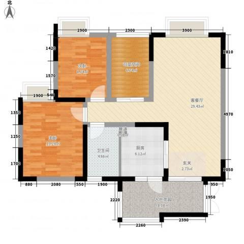 经典嘉苑2室1厅1卫1厨111.00㎡户型图
