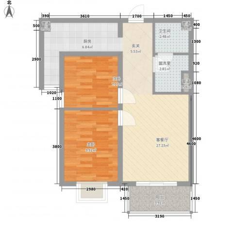上上城青年社区二期2室1厅1卫0厨84.00㎡户型图