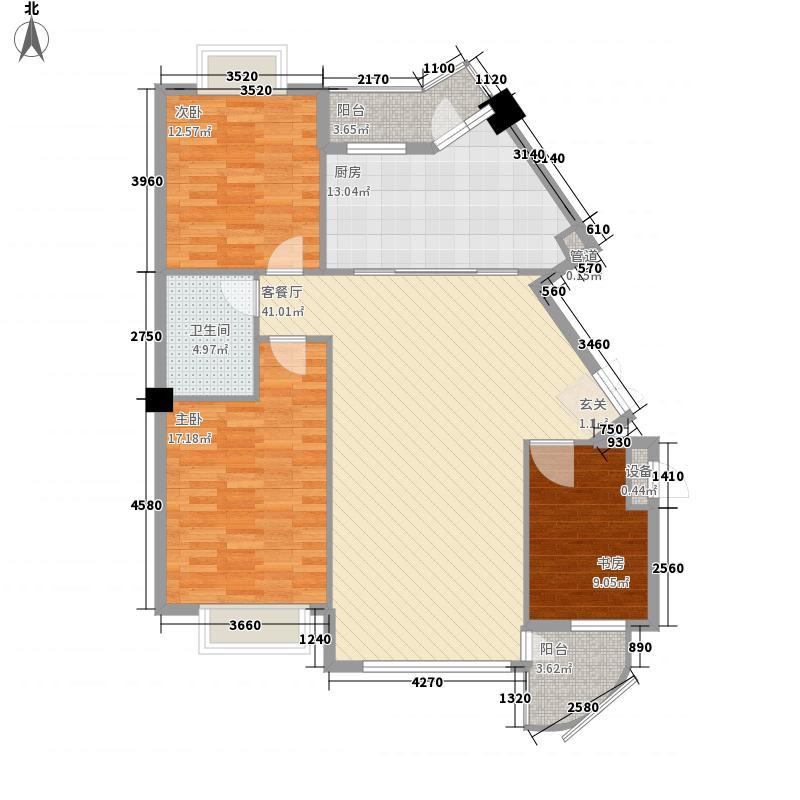湖畔嘉园125.00㎡湖畔嘉园户型图春色满园3室2厅1卫1厨户型3室2厅1卫1厨