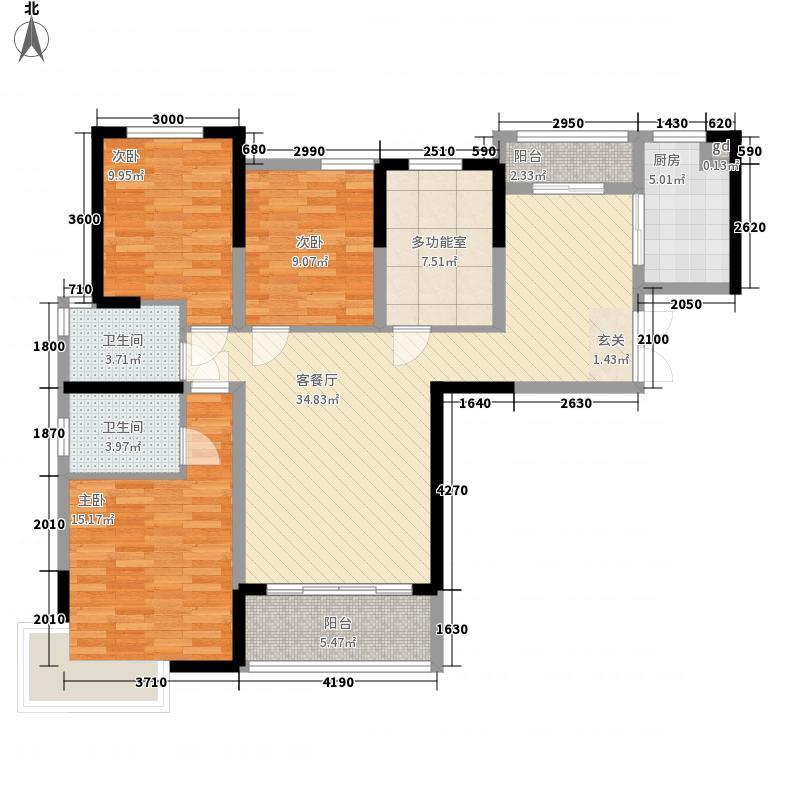 世纪华阳13.00㎡5期3+1一户型4室2厅2卫1厨