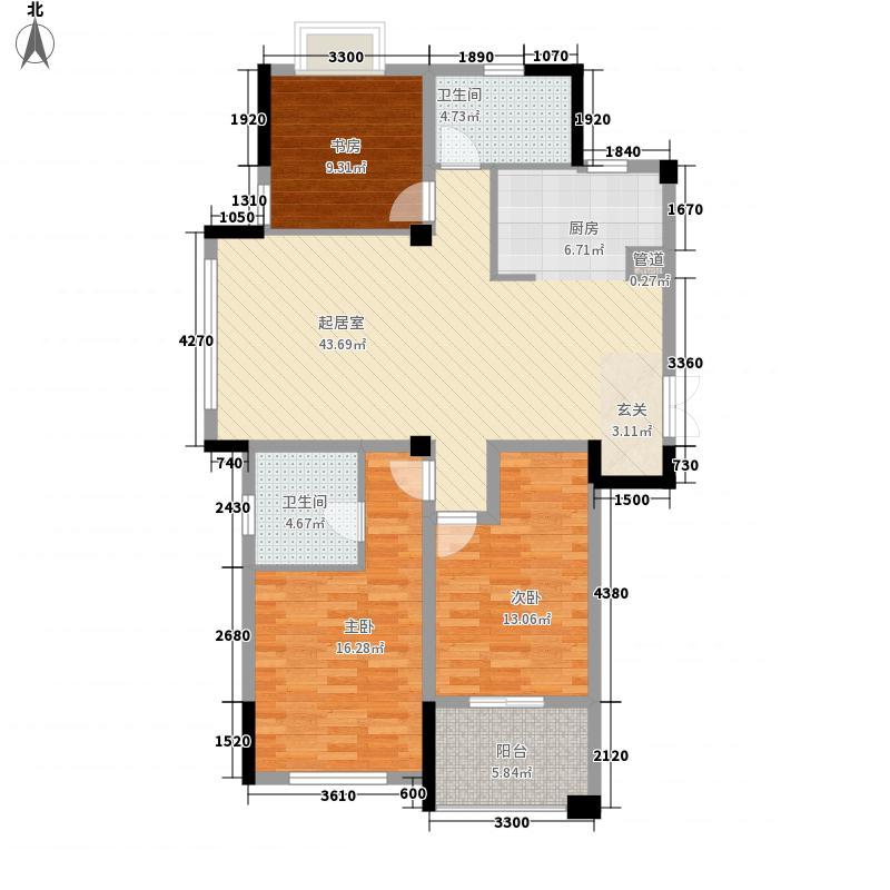 永安新城家园128.00㎡小高层S户型
