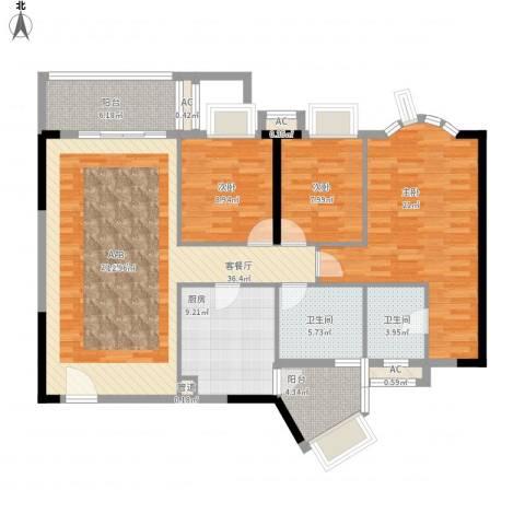 顺欣广场二期3室1厅2卫1厨149.00㎡户型图