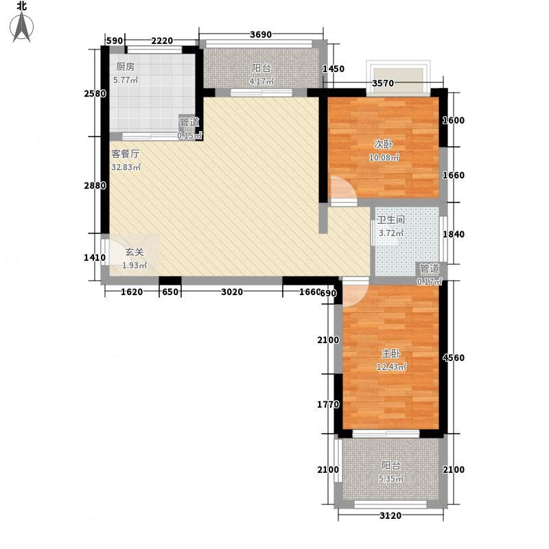 中房缇香郡108.00㎡中房缇香郡9号楼E6户型图2室2厅1卫1厨108.00㎡户型2室2厅1卫1厨