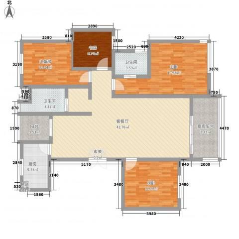 大地家园4室1厅2卫1厨165.00㎡户型图