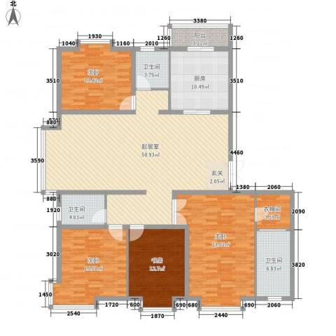 新世界花园湾景华庭4室0厅3卫1厨208.00㎡户型图