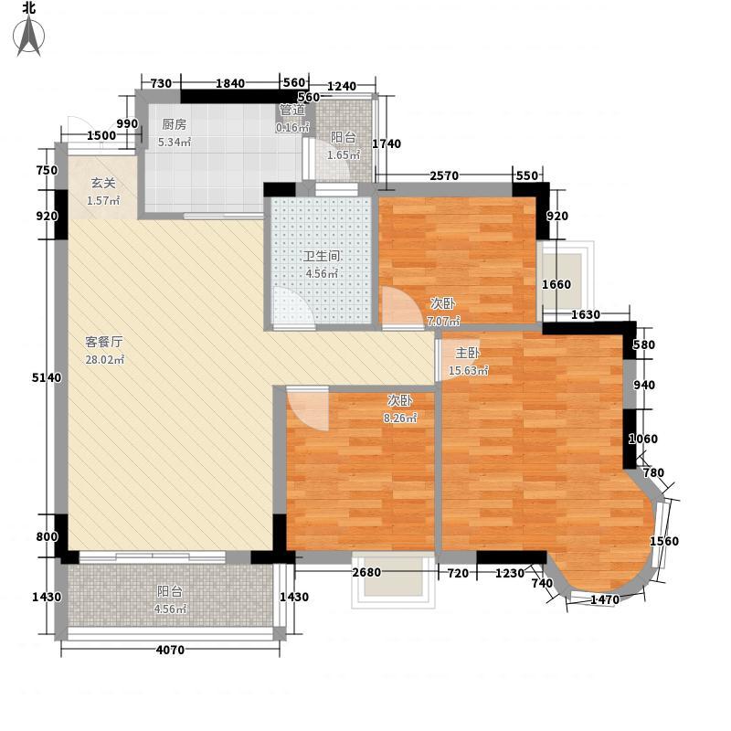 盛世华庭98.41㎡盛世华庭户型图都市阳光3室2厅1卫户型3室2厅1卫