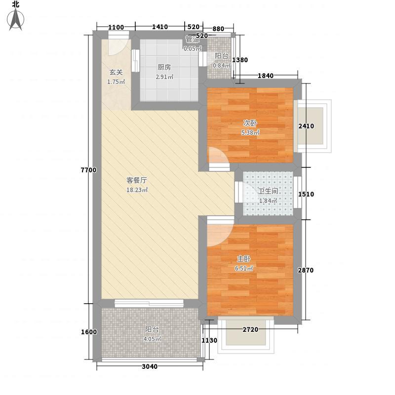 程埔大厦58.00㎡程埔大厦2室户型2室