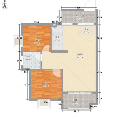 星宇・华成苑2室1厅1卫0厨96.00㎡户型图