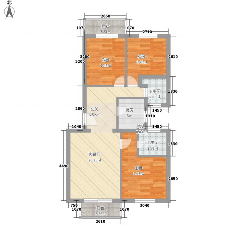 金桥苑80.00㎡金桥苑2室户型2室