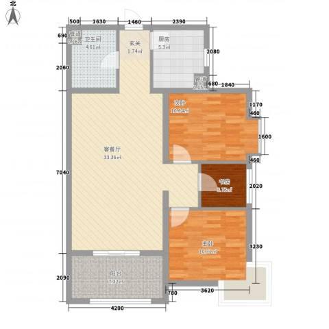 启新18893室1厅1卫1厨105.00㎡户型图