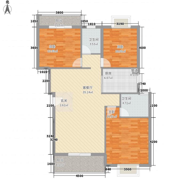 紫域白莲国际商贸城115.10㎡紫域B1-B户型3室2厅2卫1厨