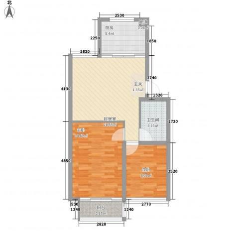 海林依景2室0厅1卫1厨77.00㎡户型图