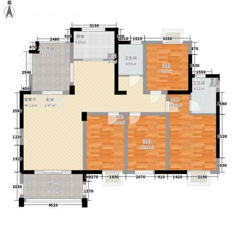 市政府一小区4室1厅2卫1厨169.00㎡户型图