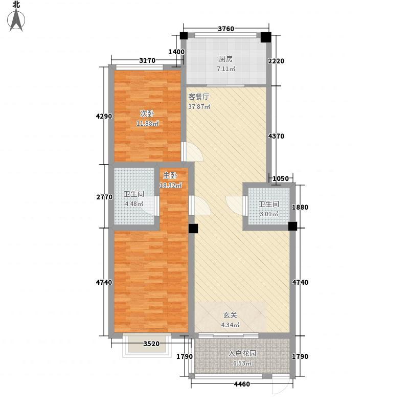 鑫亿城128.47㎡128.47平方米户型3室2厅2卫1厨