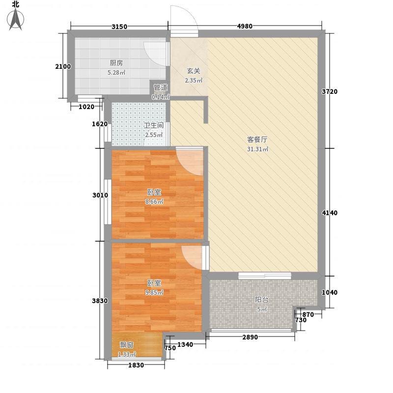 美联奥林匹克花园四期6号楼B2户型