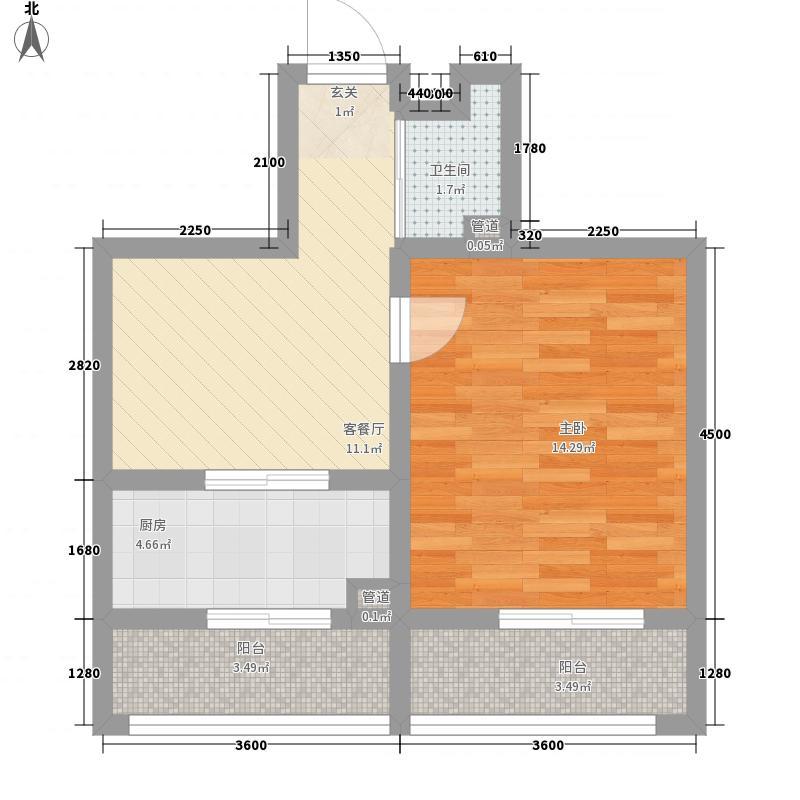 明地家园47.00㎡明地家园户型图1室1厅1卫户型10室