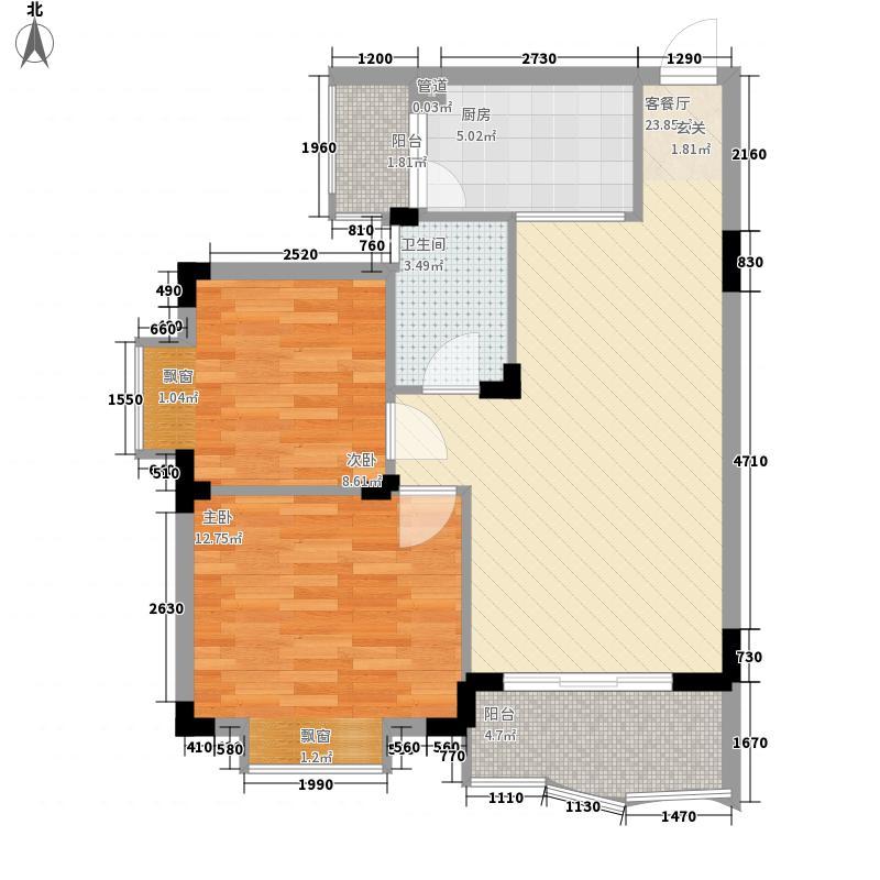 中珠新村二期户型2室