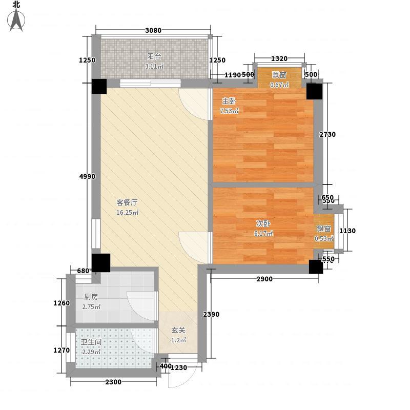 增乐楼55.00㎡增乐楼户型图2室2厅户型图2室2厅1卫1厨户型2室2厅1卫1厨