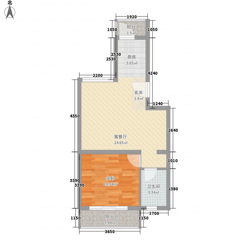 白河涧公寓63.00㎡户型1室1厅1卫1厨