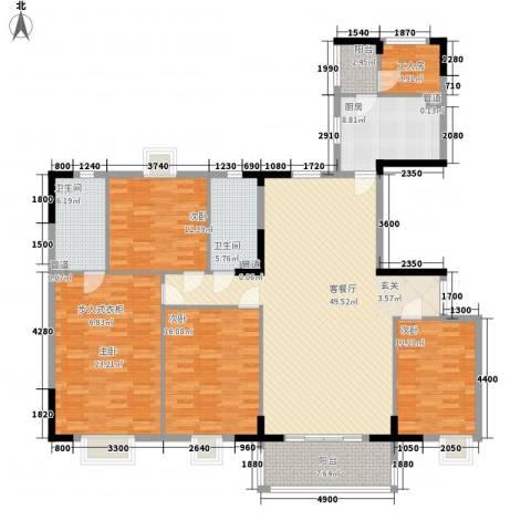 富恒浅水湾4室1厅2卫1厨205.00㎡户型图