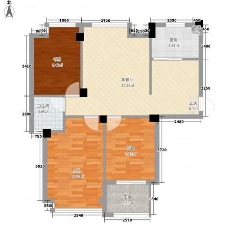 亚特蓝郡3室1厅1卫1厨103.00㎡户型图
