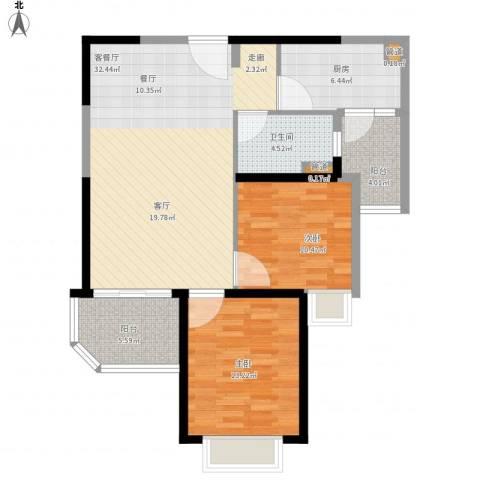 恒大御景2室1厅1卫1厨109.00㎡户型图