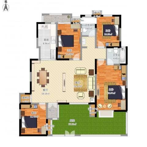 金泰丝路花城4室1厅2卫1厨216.00㎡户型图