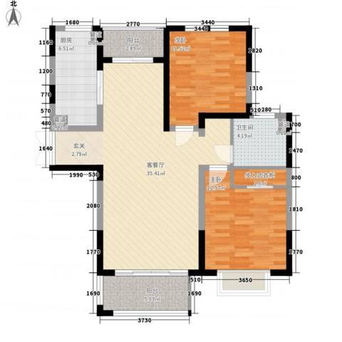 星湖花园2室1厅1卫1厨92.00㎡户型图