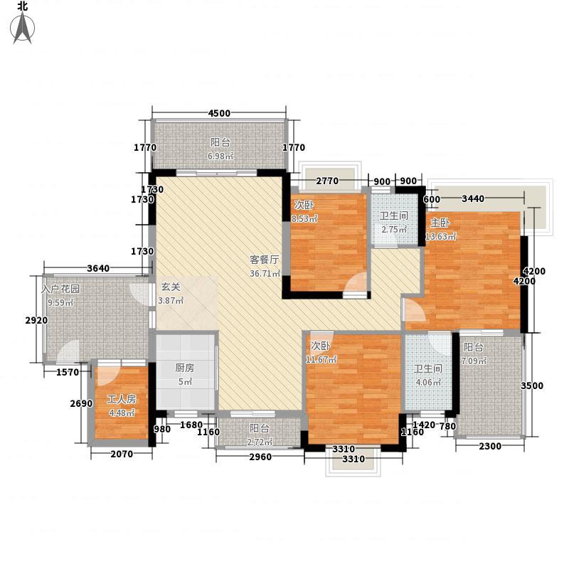 德华花苑户型3室2厅1卫1厨