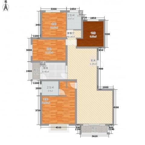 锐点嘉苑4室1厅2卫1厨161.00㎡户型图