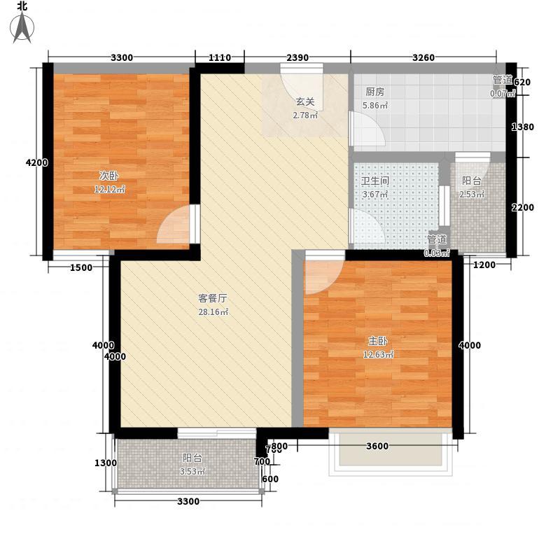 幸福时光80.00㎡幸福时光户型图2室2厅1卫户型2室2厅1卫
