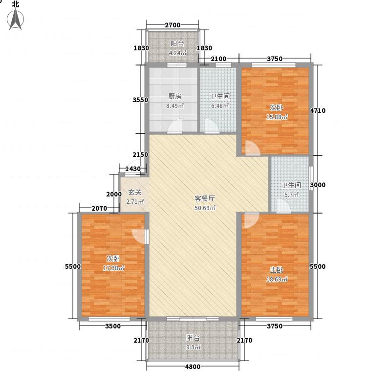 军安绿色家园143.47㎡军安绿色家园户型图3室2厅2卫1厨户型10室