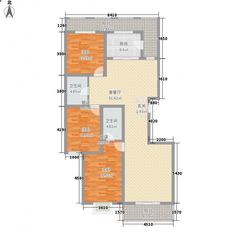 宁达盛世168.71㎡宁达盛世户型图A2段单元A1户型3室2厅2卫1厨户型3室2厅2卫1厨