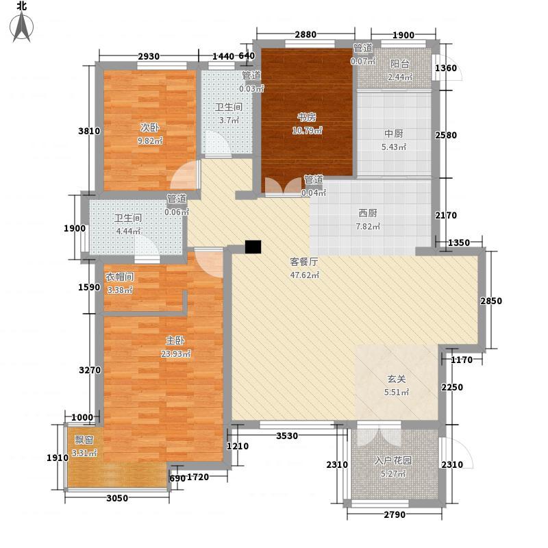 万科中央公园142.00㎡万科中央公园户型图3室2厅2卫户型10室