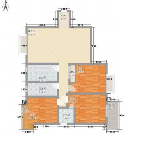 栖霞天韵3室1厅3卫0厨147.00㎡户型图