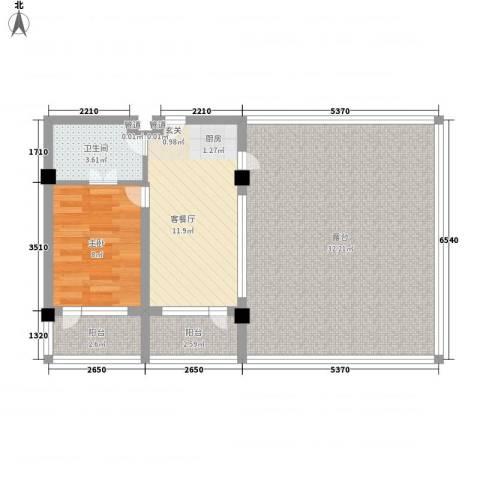 金上汤温泉1室1厅1卫0厨87.00㎡户型图