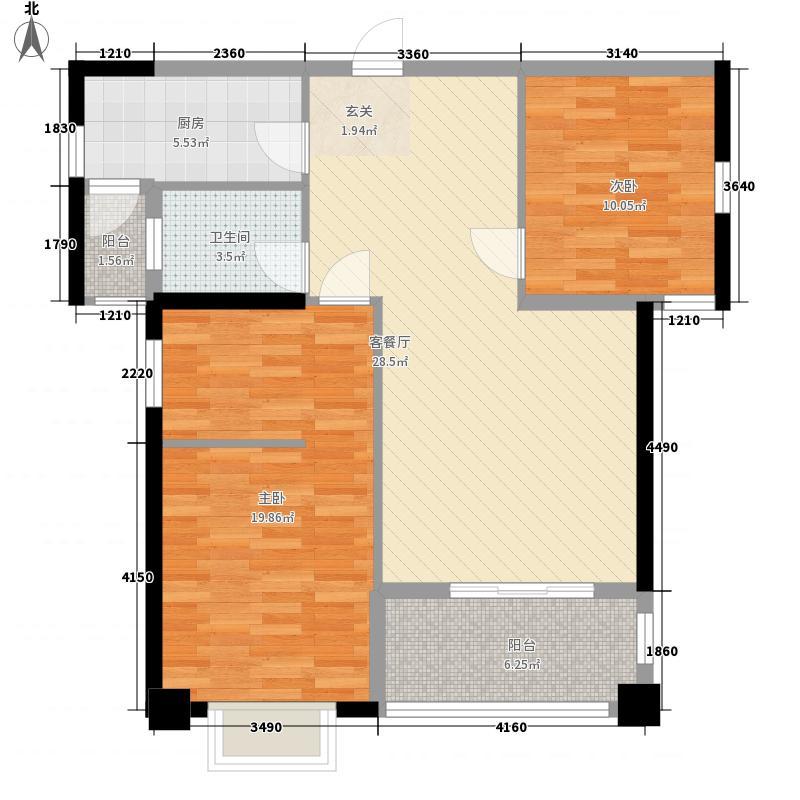 金榜小区户型2室1厅1卫1厨