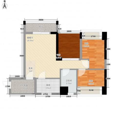 世纪城3室1厅1卫1厨78.00㎡户型图