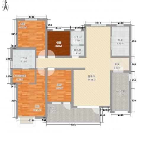 星光山水4室1厅2卫1厨133.90㎡户型图