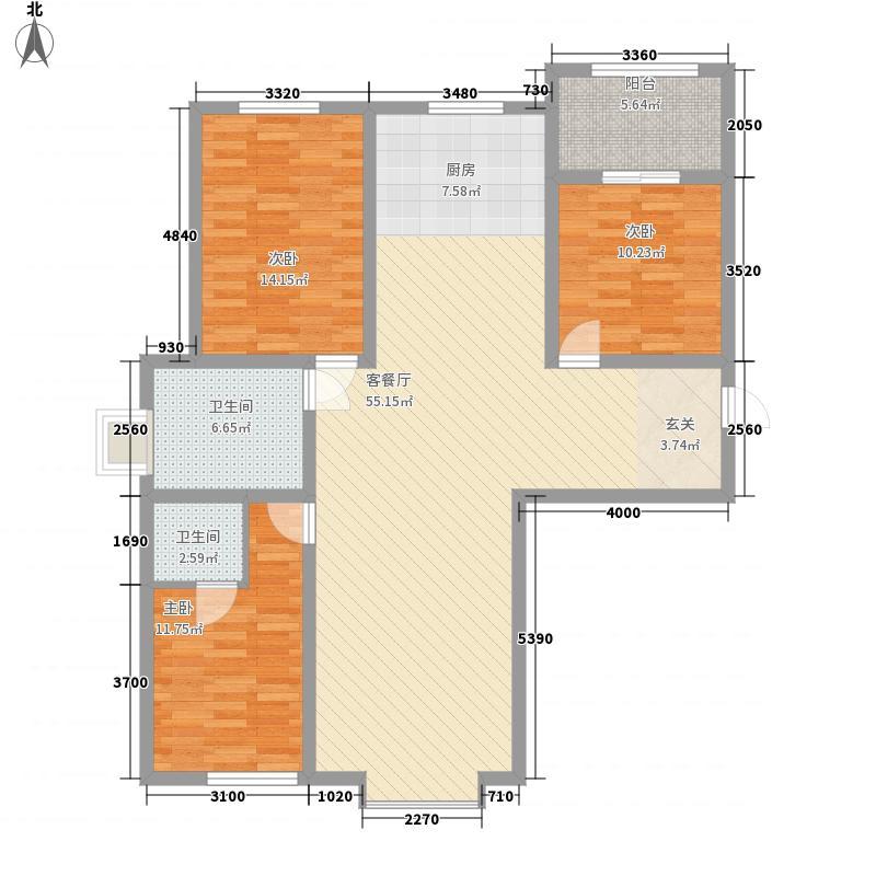 工人西村铁路宿舍花3室2厅2户型3室