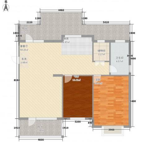 翡翠新村2室1厅1卫0厨168.00㎡户型图