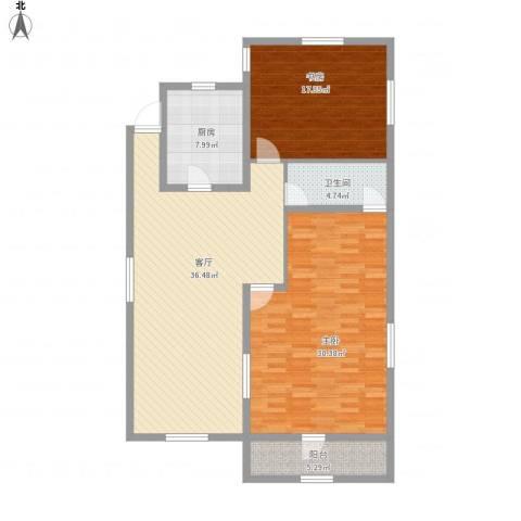 长春明珠2室1厅1卫1厨143.00㎡户型图