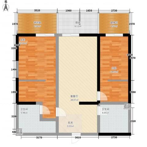 兴庆宫馆2室1厅2卫1厨131.00㎡户型图